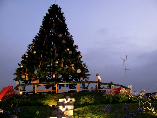 Solar Powered Christmas Tree For Cemetery